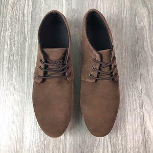 NWOB Brown Casual Derby Sneakers